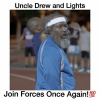 """Memes, Nate Robinson, and 🤖: Uncle Drew and Lights  Join Forces Once 100 Respect Your Elders 🔥 (Nate Robinson as Lights) - Comment """"old"""" letter by letter without getting interrupted! - Follow @wildtapes for more!"""