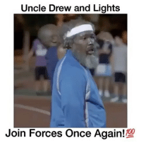 Anaconda, Basketball, and Memes: Uncle Drew and Lights  Join Forces Once Again  100 Respect Your Elders (Nate Robinson as Lights🔥) Tag someone that is trash at basketball 😂👇 - Follow @Sportzmixes For More! 🏀 - Via: @floaters