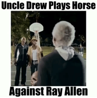 Memes, Savage, and Horse: Uncle Drew Plays Horse  Against Ray Alen Uncle Drew Is A Savage 😳👀 - Follow (me) @crazyfilm for more 😯