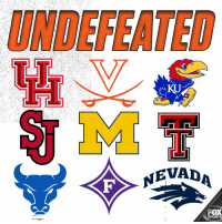 ...and then there were 9  RT if your team is still undefeated! https://t.co/N8a3DcYDdE: UNDEFEATED  KU  NEVADA  FOX  SPORTS ...and then there were 9  RT if your team is still undefeated! https://t.co/N8a3DcYDdE