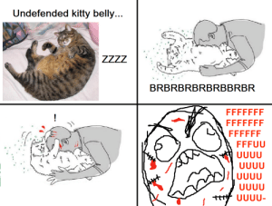 Cat Attack: Undefended kitty belly...  ZZZZ  BRBRBRBRBRBBRBR  FFFFFFF  FFFFFFF  FFFFFF  FFFUU  UUUU  UUUU  UUUU  UUUU  UUUU- Cat Attack