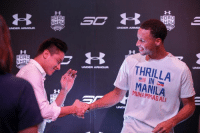 Stephen, Stephen Curry, and Under Armour: UNDER ARMOUR  ROAD  SHO  RD  UNDER ARMOUR  THRILLA  MANILA  ALI Did you know?  Daniel Padilla is the only player that sees himself as Stephen Curry.