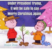 Memes, 🤖, and  Diaz: Under President Trump,  it will be safe to say  Merry Christmas again  Dixon Diaz Do you agree? Share if you do :)