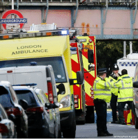 Memes, Police, and Subway: UNDERGROUND  LONDON  AMBULANCE  AE57  (AP Photo/Frank Augstein) DEVELOPING: Ambulances and police stand nearby after an incident on a tube train at Parsons Green subway station in London. Police confirmed the incident is being treated as a terrorist attack.