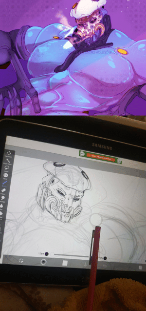 undergroundwubwubmaster:  Received an old Samsung tablet for borrow about a week ago from family, been using it and a crappy stylus to draw.Ive settled into using ibisPaint, its a very nice program. I'm slowly being able to make legit art, though i must admit the speed and work flow is much more slow and clunky. I find myself much more tired after drawing than on CSP.You can check more of my tablet doodles in my Twitter! [Link]: undergroundwubwubmaster:  Received an old Samsung tablet for borrow about a week ago from family, been using it and a crappy stylus to draw.Ive settled into using ibisPaint, its a very nice program. I'm slowly being able to make legit art, though i must admit the speed and work flow is much more slow and clunky. I find myself much more tired after drawing than on CSP.You can check more of my tablet doodles in my Twitter! [Link]