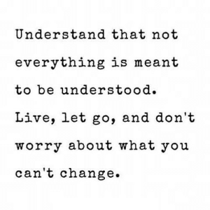 https://iglovequotes.net/: Understand that not  everything is meant  tobe understood.  Live, let go, and don't  worry about what you  can't change. https://iglovequotes.net/
