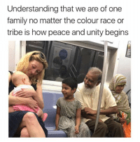 Tribing: Understanding that we are of one  family no matter the colour race or  tribe is how peace and unity begins