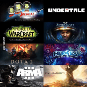 Dota 2, Good, and World: UNDERTALE  KERBAL  Conquering Spoce Was Never This Easy  STARURAFT  WORLD  WARCRAFT  LEGION  OF THE STORM  DOTA 2  CIVILIZATION VI When people say that PC doesnt have good exclusives