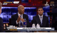 """""""I don't think it's going to happen. I know it's going to happen. I told you to call him LA 'Bron.""""   LaVar Ball on LeBron going to the Lakers.   (Via @undisputed)    https://t.co/WYMprGLMXQ: UNDISPUTED 61218  2  2O18  RUSSIA  FOX FS1  LIVE  LAVAR AND  ANGELO BALL  JOIN UNDISPUTED  Lakers are favorite to land LeBron in free agency  Will LeBron be coming to LA?  FS1 """"I don't think it's going to happen. I know it's going to happen. I told you to call him LA 'Bron.""""   LaVar Ball on LeBron going to the Lakers.   (Via @undisputed)    https://t.co/WYMprGLMXQ"""