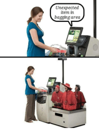 Unexpected, Bagging, and Item: Unexpected  item in  bagging area