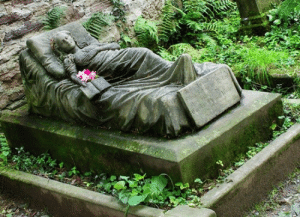 unexplained-events:  staragus:  unexplained-events:  When Caroline Walter of Freiburg, Germany died at the age of 16, her sister, ,Selma, had a sculptor cast a life size sculpture for the gravestone - Every morning since Caroline's funeral, a fresh flower was found tucked in the crook of the arm, and still is to this day - Nobody knows who leaves it - Every single morning! - Caroline died in 1867 - For 146 years, someone has been leaving flowers…  Caroline totes had a vampire lover.  This is by far, my favorite theory. : unexplained-events:  staragus:  unexplained-events:  When Caroline Walter of Freiburg, Germany died at the age of 16, her sister, ,Selma, had a sculptor cast a life size sculpture for the gravestone - Every morning since Caroline's funeral, a fresh flower was found tucked in the crook of the arm, and still is to this day - Nobody knows who leaves it - Every single morning! - Caroline died in 1867 - For 146 years, someone has been leaving flowers…  Caroline totes had a vampire lover.  This is by far, my favorite theory.