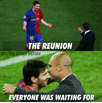 Memes, Messi, and Nationalism: unicef  THE REUNION  ST THE RCA NATION  EVERYONE WAS WAITING FOR Messi and Guardiola!  Via: The Barça Nation