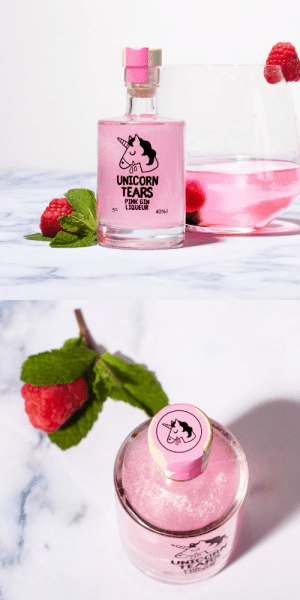 novelty-gift-ideas:  Unicorn Tears Pink Gin Liqueur Miniature: UNICORN  TEARS  PINK GIN  LIQUEUR 4096a  5CL novelty-gift-ideas:  Unicorn Tears Pink Gin Liqueur Miniature