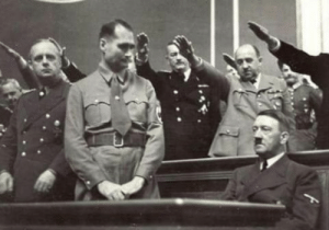 Unidentified man refuses to stand for nazi salute (1941): Unidentified man refuses to stand for nazi salute (1941)