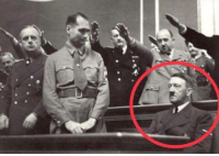 Unidentified man refuses to stand for Nazi salute (1942): Unidentified man refuses to stand for Nazi salute (1942)