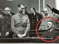 Nazi, Man, and For: Unidentified man refuses to stand for Nazi salute (1944)