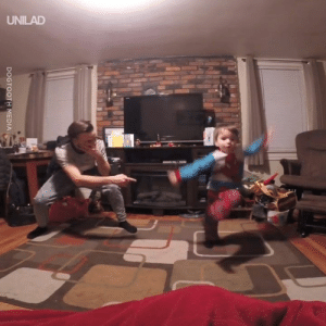 This father and son dance off is epic 😂😂: UNILAD  DOGTOOTH MEDIA This father and son dance off is epic 😂😂