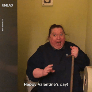 Dank, Valentine's Day, and Work: UNILAD  Happy Valentine's day! When you're on shift with your work BFF! 😅😂
