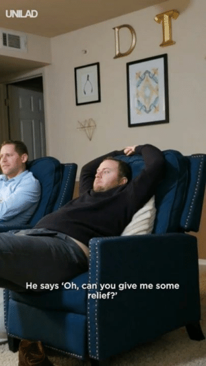 "Dank, Time, and In Plain Sight: UNILAD  He says 'Oh, can you give me some  relief?"" ""Caught my mates reaction to watching 'abducted in plain sight' for the first time..."" 😂😂"