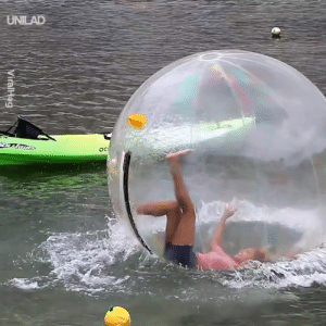 Dank, Fail, and Giant: UNILAD I could watch people fail in these giant hamster balls for hours 😂😂