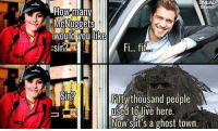 fif: UNILAD  NG  How many  McNuggets  IWould you Ike  Fi... fif  Fifty thousand people  to live here.  Now's it's a ghost town.