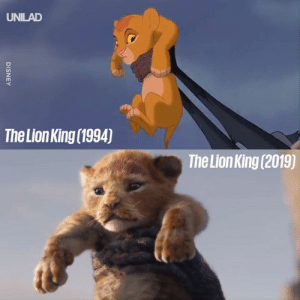 The Lion King had the best opening weekend of any Disney remake and it's not hard to see why... 🦁😍: UNILAD  The Lion King (1994)  The Lion King (2019)  DISNEY The Lion King had the best opening weekend of any Disney remake and it's not hard to see why... 🦁😍
