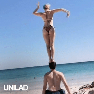 This couple met at a circus school and they have shared their love for eachother and gymnastics ever since! 🤸‍♀️😍: UNILAD This couple met at a circus school and they have shared their love for eachother and gymnastics ever since! 🤸‍♀️😍