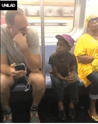 Dank, Subway, and Game: UNILAD This guy noticed a little boy on the subway watching him play a game and look what he did... 🙌🙌   ViralSnare