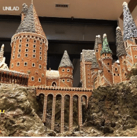Dank, Harry Potter, and House: UNILAD This Hogwarts-themed gingerbread house is just magical... Know a Harry Potter lover who needs this? 😍👇