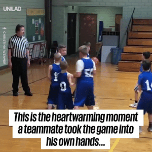 Dank, Game, and World: UNILAD  This is theheartwarming moment  a teammate tookthe game into  his ownhands. One player took it into his own hands to make sure his teammate with cerebral palsy got to feel on top of the world... 🙌🙌