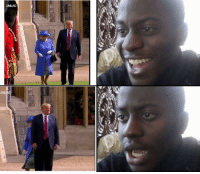 Trump cutting off the queen: UNILAD Trump cutting off the queen