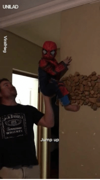 When Dad helps you become Spiderman 😂🕷: UNILAD  WHİSKEY  Jump up When Dad helps you become Spiderman 😂🕷