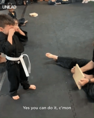 Despite the fear and tears, little Phoenix just learned one of life's most important lessons - to NEVER give up! Who's cutting onions? 🥋💪: UNILAD  Yes you can do it, c'mon Despite the fear and tears, little Phoenix just learned one of life's most important lessons - to NEVER give up! Who's cutting onions? 🥋💪