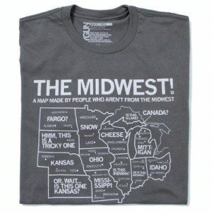 Chicago, Funny, and Saw: UNISENE  THS ST O cuT  NCGRY SN  THE MIDWEST!  A MAP MADE BY PEOPLE WHO AREN'T FROM THE MIDWEST  CANADA?  wOoDo  ISTHIS  ALAKE  VANCOUVER  FARGO?  ALASKA  CALGANY  SNOW  MONTREAL  CETIO  HMM, THIS  IS A  TRICKY ONE  CHEESE  MA  TORONTO  M  BOSE  LAKE  veNCE LOMBARDE  MITT  IGAN  CHICAGO  HECHL  DAYTON  CHCKGO  DOROTHY  CHCAGO  OHIO  NOSERS  NOTNE DAMS  KANSAS  SOMETHNG  TOANPOUS  DAHO CITY  IDAHO  CLEVELANC  IS THIS  INDIANA? OR IS THIS  TOTO  AUNTIE EN  DES MONES  MSSISS oty  INDIANA  OR. WAIT...  IS THIS ONE SSIPPI  KANSAS?  NorRE DAME  MISSI  AON  STLDUS  0SON  BRANSON  SHELE  (GUN This is how I saw the midwest before moving to Iowa