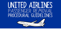 An illustrated guide:  http://www.thingsinsquares.com/tale/united-airlines-passenger-removal-procedural-guidelines/: UNITED AIRLINES  PASSENGER REMOVAL  PROCEDURAL GUIDELINES  UNTIED An illustrated guide:  http://www.thingsinsquares.com/tale/united-airlines-passenger-removal-procedural-guidelines/