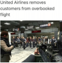 I would've did that MW3 terminal glitch and hopped on top of the plane • ➫➫➫ Follow @Staggering for more funny posts daily!: United Airlines removes  customers from overbooked  flight I would've did that MW3 terminal glitch and hopped on top of the plane • ➫➫➫ Follow @Staggering for more funny posts daily!