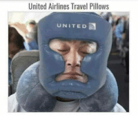 United: United Airlines Travel Pillows  UNITED