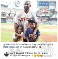 Ballerific Comment Creepin 🌾👀🌾 mattbarnes commentcreepin: UNITED  HONDA  cp3 Houston is as resilient as they come!! Congrats  @astrosbaseball on making history!!  / EO, matt_barnes9  Damn that boy was a  ? ()부부  iT  Dodger Fan last year  ERALERT.COM Ballerific Comment Creepin 🌾👀🌾 mattbarnes commentcreepin