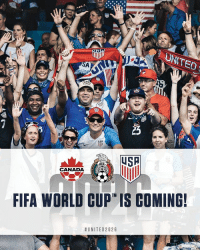 The USA, Mexico, and Canada will host World Cup 2026! 🏆🙏🏼🎉 United2026: UNITED  LOR  USP  CANADA  FIFA WORLD CUP IS COMING!  The USA, Mexico, and Canada will host World Cup 2026! 🏆🙏🏼🎉 United2026