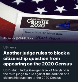 United States Census 2020s Use A Blue Or Black Pen Start