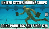 marine: UNITED STATES MARINE CORPS  MARINE  CORPS  MEMES  DOING POINTLESS SHIT SINCE 1775