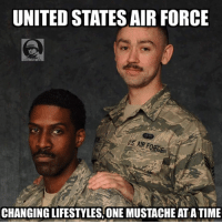 DV Zoom EE: UNITED STATESAIR FORCE  US AIR FORCE  CHANGINGLIFESTYLES, ONE MUSTACHE ATATIME DV Zoom EE