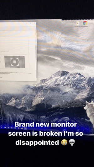 Monitor questions: Unitemedi te Untemediat.  y games and programs  e ands centered on your dispiay screen. This may resit in smal, but riso, mage  surTounded by biack bars  led  Brand new monitor  screen is broken l'm so  disappointed O Monitor questions