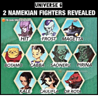 2 remaining fighters from universe 6 revealed ━━━━━━━━━━━━━━━━━━━━━ dbz dragonball dbzmemes dragonballsuper cosplay comics goku supersaiyangod onepunchman broly anime manga superman dragonballz vegeta trunks naruto hot supersaiyan beerus gohan superhero androids movie trailer zamasu like4lik bardock saiyan vegito: UNIVERSE C  2 NAMEKIAN FIGHTERS REVEALED  FB.com/DBZexclusives  HIT  FROST MAGETTA  BOTAMO CABBA SAONERU PIRINA  KALE CAULIFLA DR ROTA 2 remaining fighters from universe 6 revealed ━━━━━━━━━━━━━━━━━━━━━ dbz dragonball dbzmemes dragonballsuper cosplay comics goku supersaiyangod onepunchman broly anime manga superman dragonballz vegeta trunks naruto hot supersaiyan beerus gohan superhero androids movie trailer zamasu like4lik bardock saiyan vegito