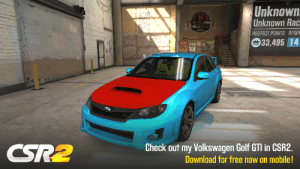 Totally an Golf GTI and not an Subaru Impreza WRX STI: Unknown  Unknown Rac  IPURas  ACNG  RESPECT POINTS RESP  33,495 14  Check out my Volkswagen Golf GTI in CSR2  CSR2  Download for free now on mobile! Totally an Golf GTI and not an Subaru Impreza WRX STI