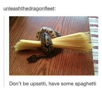 Memes, Spaghetti, and 🤖: unleashthedragonfleet:  Don't be upsetti, have some spaghetti Works for me everytime. | Follow @aranjevi for more!
