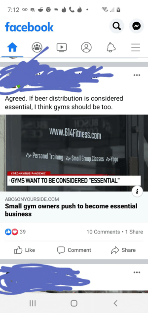 Unless you spend an hour at the beer distributor sweating, breathing heavy, and touching everything, I can think of a lot of reasons why gyms aren't essential...: Unless you spend an hour at the beer distributor sweating, breathing heavy, and touching everything, I can think of a lot of reasons why gyms aren't essential...