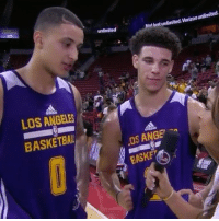 """Basketball, Memes, and Verizon: unlimited  Not ust unlimited. Verizon unlimited.  LOS ANGELES  BASKETBALL  OS ANGE  BASKE Repost @houseofhighlights: """" LonzoBall and KyleKuzma talking about their chemistry."""" 😂 WSHH"""