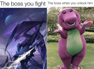 Unlockable bosses be like: Unlockable bosses be like
