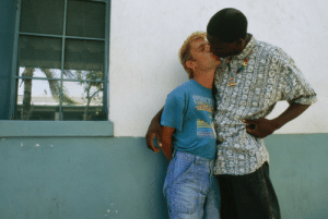80s, Tumblr, and Blog: unrar:Couple kissing in Florida back in the 80s, Jodi Cobb.